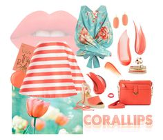 """""""Coral-lips-stripes-floral +♫"""" by petiteorange ❤ liked on Polyvore featuring beauty, Lime Crime, NARS Cosmetics, Rifle Paper Co, Topshop, Essie, Hourglass Cosmetics, Zimmermann, Jack Rogers and White House Black Market"""