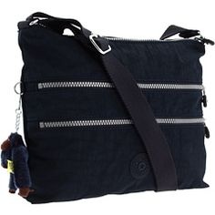 Love this Kipling bag!  Light weight,  cross-body, zippers, multiple pockets, water resistant. Great price, too! Kipling Alvar Shoulder/Cross-Body Travel Bag on Zappos