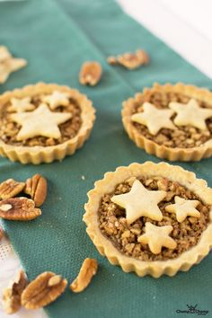 Gluten free mini pecan pies. These mini tarts are also fructose friendly and perfect for entertaining!
