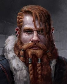 Looks like a relative of Morrighan and Cerridwen Ira Fantasy Dwarf, Fantasy Art Men, High Fantasy, Fantasy Rpg, Fantasy Character Design, Character Design Inspiration, Character Concept, Character Art, Inspiration Drawing