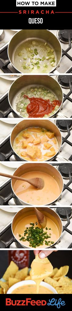 How To Make Sriracha Queso