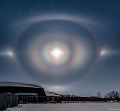 """""""Moon Corona, Halo, and Arcs over Manitoba """" Is the NASA Astronomy Picture of the Day of today, February 2020 Halo, Carpe Diem, Cosmos, Closer To The Moon, Tucson Real Estate, Wall Cloud, This Is Water, Astronomy Pictures, Nasa Images"""