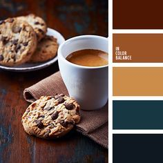 Amazing palette has a perfect taste. Rich, noble colors evoke a sense of awe and respect. Brown knows how to create the perfect atmosphere of comfort and warmth. His shades in perfect harmony with the ocher and deep blue. In such a color scheme interior of the kitchen, living room, bathroom will look perfect and stylish.