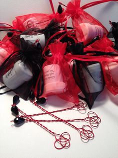 Goth Vampire Halloween Wedding Favors 65 Bubble Wands by celticbubblewands, $170.00