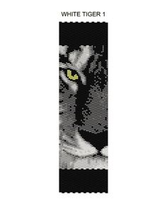 White Tiger Peyote Pattern