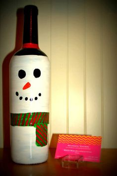 Snowman Bottler Decor by SouthernYankeeLove on Etsy, $12.00