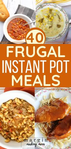 I love cheap and easy meals, and these frugal Instant Pot meals are kind to your budget AND your tastebuds! These tasty options are easy to make and easy on your wallet--add some to your meal plan today! quick and easy meals Instant Soup Recipe, Instant Pot Dinner Recipes, Easy Soup Recipes, Healthy Recipes, Budget Recipes, Instant Recipes, Cheap Recipes, Crockpot Recipes, Chicken Recipes