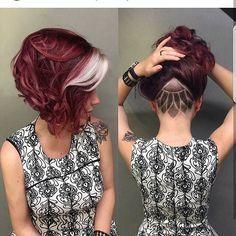 35 auffallend kurze rote Frisuren - Kids Snacks - Make Up Brushes - DIY Piercing - Red Hair Styles - DIY Interior Design Short Red Hair, Short Hair Cuts, Undercut Hairstyles, Pretty Hairstyles, Short Undercut, Red Hairstyles, Shaved Undercut, Newest Hairstyles, Undercut Curly Hair