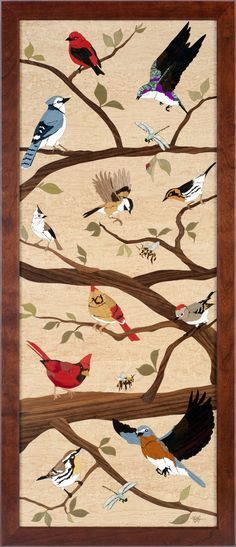 Songbird Medley Marquetry, Arts And Crafts, Rugs, Furniture, Design, Decor, Farmhouse Rugs, Decoration