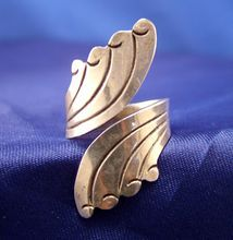Taxco Artist Signed  ~ Sterling Wrap Ring ~ Size 6