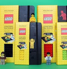 !two of my favorite things: lego and moleskine!