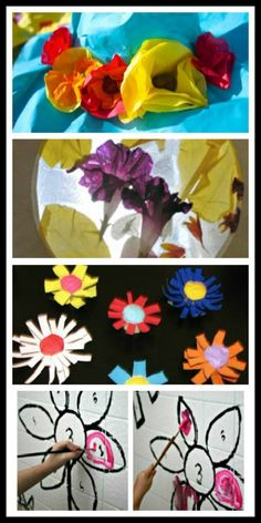 Flower Crafts for Kids - Spring is in the air, and I am loving all the vibrant colors!  11+ ideas for flower crafts and activities including a fun and simple flower shaped snack featured on The Sunday Showcase.