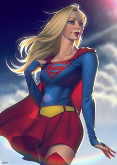 Digital paintings of Supergirl by Leandro Franci from 2010 and See more superhero and supervillain art. Marvel Dc Comics, Heros Comics, Comics Anime, Comic Manga, Dc Comics Characters, Dc Comics Art, Comics Girls, Dc Heroes, Marvel Vs