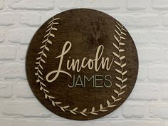 Excited to share the latest addition to my shop: vintage baseball name sign