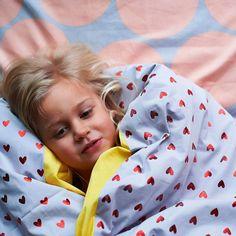 Kip & Co Kid's Heart Ache Reversible Quilt Cover - King Single Prince And Princess, Heart Patterns, Quilt Cover, Color Splash, Duvet Covers, Pillow Cases, Branding Design, Velvet, King