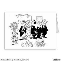 Kissing Bride at #Wedding Greeting Card