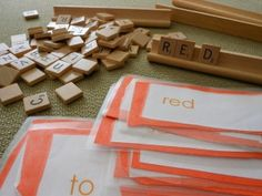 Spelling Scrabble... have fun with spelling practice