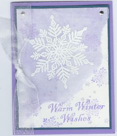 StewArt Snowflake in Purple and Vellum by ruby-heartedmom - Cards and Paper Crafts at Splitcoaststampers