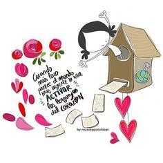 Cuando más loco (y a veces feo) parece el mundo, más urgente se hace activar los lenguajes del corazón. #EeeeegunonMundo!!