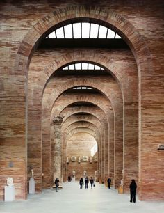 Brick enfilade at the Museo Nacional de Arte Romano in Merida, Spain - More wonders at www. Architecture Arc, Architecture Romane, Amazing Architecture, Contemporary Architecture, Architecture Details, Contemporary Office, Contemporary Bedroom, Enterprise Architecture, Conceptual Architecture