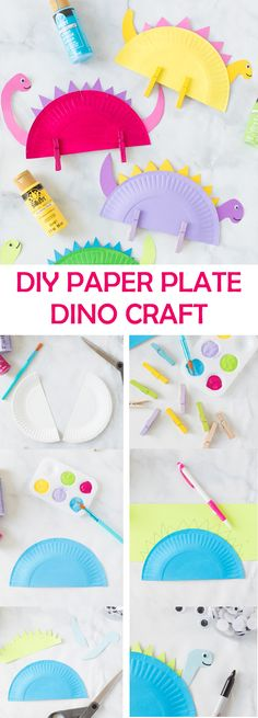 It is hard to keep children busy during quarantine times. We put together 5 awesome and easy DIY crafts for kids to keep them busy for hours. K Crafts, Glue Crafts, Easy Diy Crafts, Paper Crafts, Clothespin Crafts, Diy Gifts For Kids, Diy For Kids, Crafts For Kids, Dino Craft