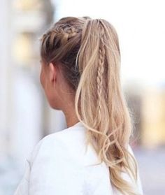 Braided pony tail