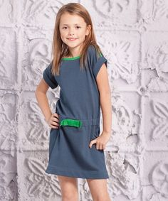 Take a look at this Green Mariana Dress - Infant, Toddler & Girls by Jelly the Pug on #zulily today!