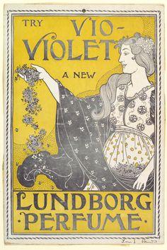 Poster design by Louis John Rhead (1857–1926) for 'Vio-Violet' by Lundborg Perfume.