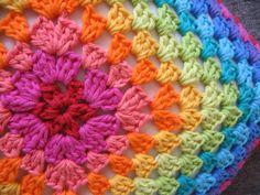 Rainbow  Granny Cushion Cover - Afghan Motif.