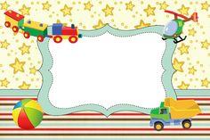 Brinquedos de Meninos - Kit Completo com molduras para convites, rótulos para guloseimas, lembrancinhas e imagens! - Fazendo a Nossa Festa