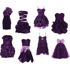 Purple dresses!