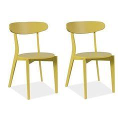 Sada 2 jedálenských stoličiek Coral Yellow