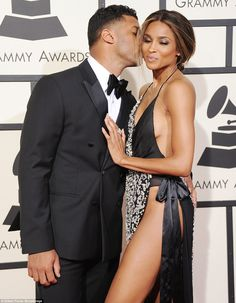 He's definitely a fan: It's clear Ciara's boyfriend Russell Wilson was enjoying her look for the evening