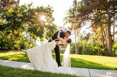 Waterfront weddings and gorgeous wedding photography at this Mission Bay, San Diego gem. Paradise Point Resort & Spa.