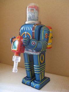 60`s Daiya Cragstan Tin Toys Battery Op Space Conqueror Spaceman Robot Japan | eBay