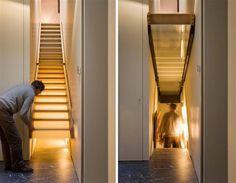Hemliga rum är inte bara för medeltida slott - de finns även i moderna hus. Vanligen bakom bokhyllor, men ibland på mer fantasifulla ställen. Kolla in de här underbara hemliga dörrarna – och kom inte och säg att du aldrig har drömt om ett eget lönnrum...