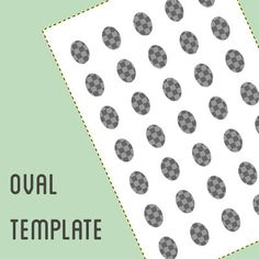 Oval digital collage template -2 different sizes - 18 x 25 mm and 20 x 25 mm -  oval template (1.50 GBP) by PrintableWonderland