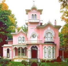 I want a pink house! by cecelia