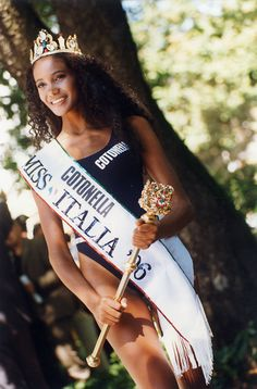 Denny Mendez, Miss Italy 1996. The first Afro Italian queen of Italy.