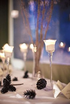 Centerpieces for Winter Weddings