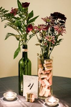 nice 40 Simple but Beautiful Wedding Centerpieces Ideas using Wine Bottles  http://viscawedding.com/2017/11/14/40-simple-beautiful-wedding-centerpieces-ideas-using-wine-bottles/