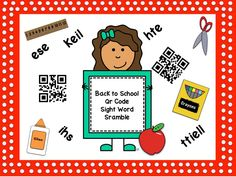Back To School Sight Word Scramble Word Work Stations, Balanced Literacy, Dry Erase Markers, Year 2, Qr Codes, Sight Words, Task Cards, Back To School, Kindergarten