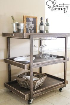 DIY wine cart. New project!!
