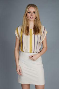a touch of yellow #dress #patriziapepe #trendy