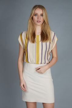 a touch of yellow #dress #patriziapepe #trendy