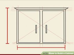 Image titled Build a Cabinet Step 1 Built In Cabinets, Diy Cabinets, Diy Furniture Projects, Home Projects, Media Room Design, Radiator Cover, Do It Yourself Projects, Diy Kitchen, Kitchen Ideas