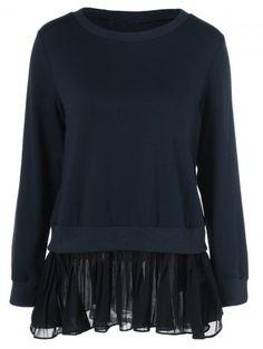 GET $50 NOW | Join RoseGal: Get YOUR $50 NOW!http://www.rosegal.com/sweatshirts-hoodies/back-slit-chiffon-patchwork-sweatshirt-858417.html?seid=1424208rg858417