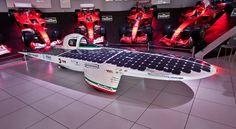 Emilia2, solar car from Italy, exhibited in Maranello at Ferrari Museum.
