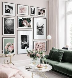 Inspiration wand Inspiration for your picture wall - Posterstore.de How An Adopted Person Can Find T Decor, Pink Living Room, Interior, Gallery Wall Living Room, Living Room Decor, Room Decor Bedroom, Bedroom Wall, Inspiration Wall, Black And White Posters