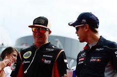 Kimi Raikkonen Lotus F1 Team  Sebastian Vettel Infiniti Red Bull Racing